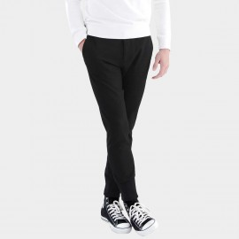 Basique Contrast Stitching Black Jogger Chinos (25.0006)