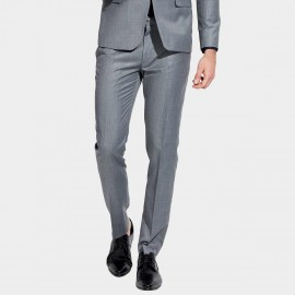 Basique Slim Fit Sleek Grey Trousers (25.0009)