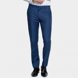 Basique Slim Fit Sleek Royal Blue Trousers (25.0009)