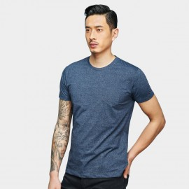 Basique Minimalist Pocket Navy Tee (01.0076)