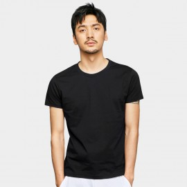 Basique Basic Short Sleeve Black Tee (01.0078)