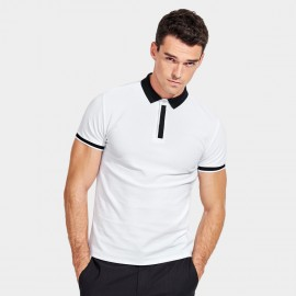 Basique Edgy Contrast White Polo (02.0024)