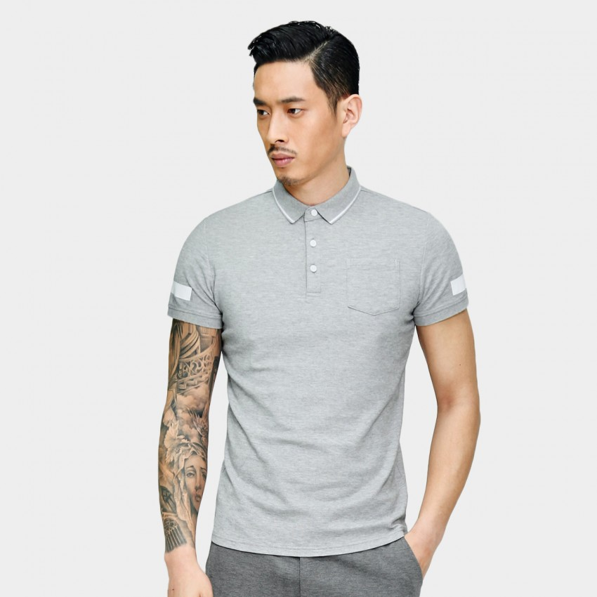 Basique Simple Symbols Grey Polo (2.0026)