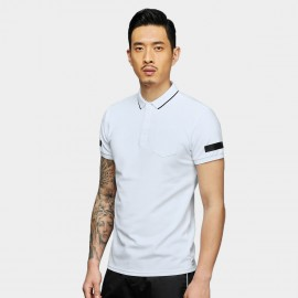 Basique Simple Symbols White Polo (02.0026)