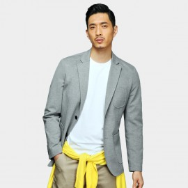 Basique Stylish Pocket Grey Blazer (6.002)