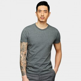 Basique Basic Short Sleeve Charcoal Tee (01.0078)