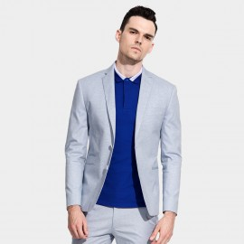 Basique Single-breasted Light Blue Blazer (06.0016)