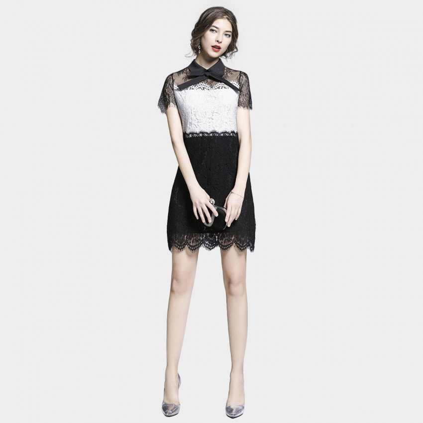 Buy Tina Lacey Sheer White & Black Dress online, shop Tina with free shipping