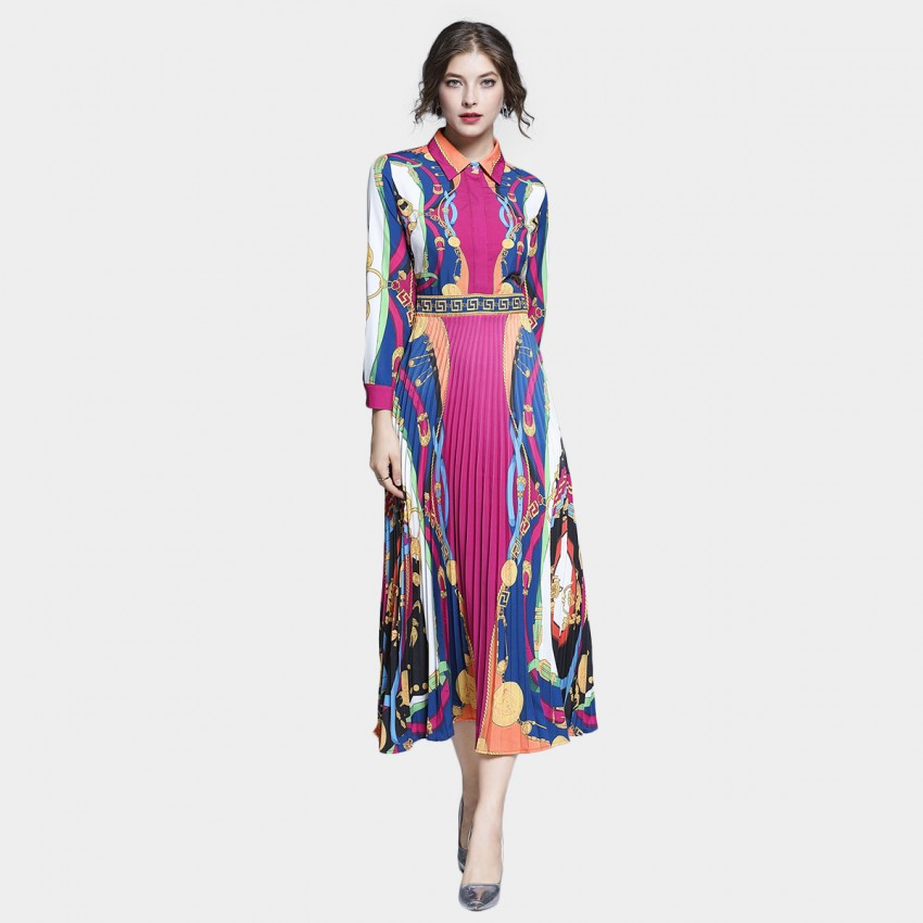 Buy Tina Vibrant Catch Long Sleeved Rase Dress online, shop Tina with free shipping