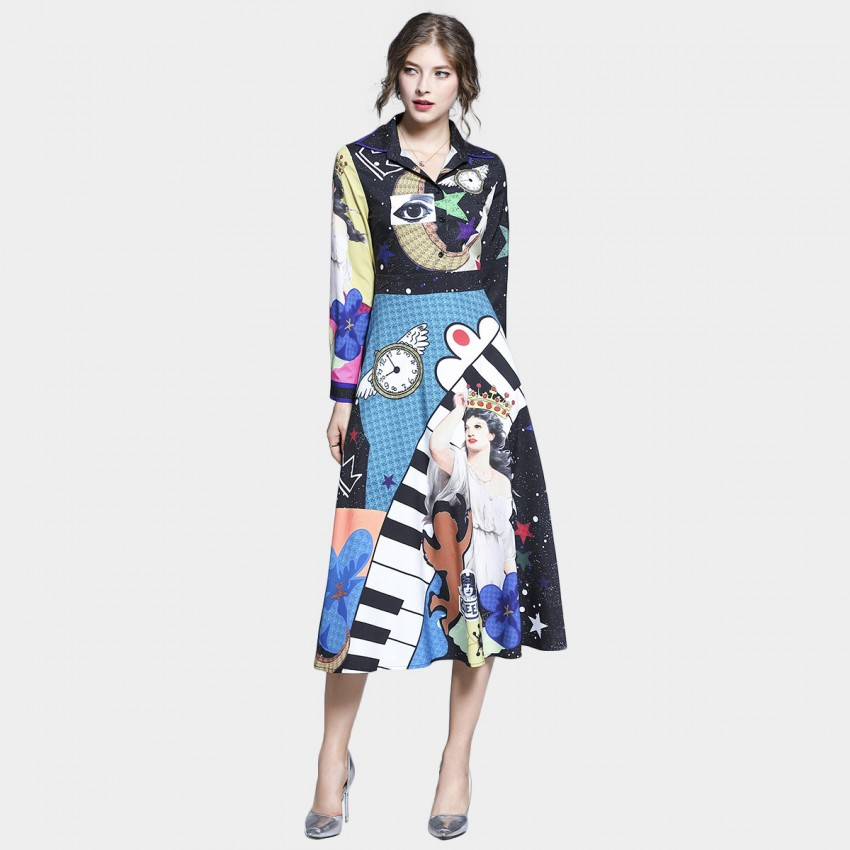 Buy Tina Trippy Fairytale Long Sleeved Black Dress online, shop Tina with free shipping