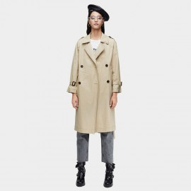 Jazzevar Classic Double Breasted Beige Trench Coat (9005)