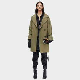 Jazzevar Lightweight Double Breasted Olive Trench Coat (9008)