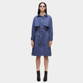 Jazzevar Double Layererd Blue Trench Coat (9009)