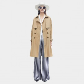 Jazzevar Double Layererd Khaki Trench Coat (9009)