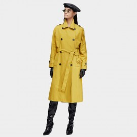 Jazzevar Heritage Belted Yellow Trench Coat (9013)
