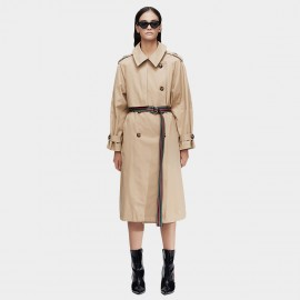 Jazzevar Statement Belt Beige Trench Coat (9015)