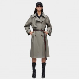 Jazzevar Statement Belt Grey Trench Coat (9015)