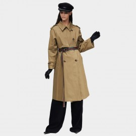 Jazzevar Statement Belt Khaki Trench Coat (9015)