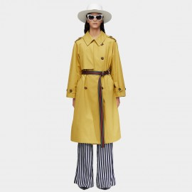 Jazzevar Statement Belt Yellow Trench Coat (9015)