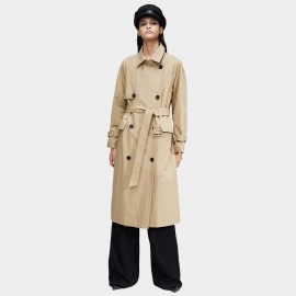Jazzevar High Neck Beige Trench Coat (9019)