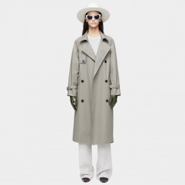 Jazzevar High Neck Grey Trench Coat (9019)