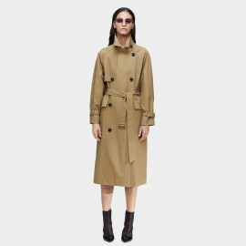 Jazzevar High Neck Khaki Trench Coat (9019)