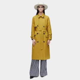 Jazzevar High Neck Yellow Trench Coat (9019)