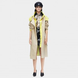 Jazzevar Pop of Colour Beige Trench Coat (9021)