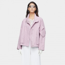 Jazzevar Drop Sleeve Lilac Bomber Jacket (9023)