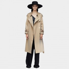 Jazzevar Statement Button Longline Camel Trench Coat (9024)