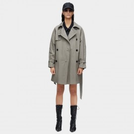 Jazzevar Cover Up Grey Trench Coat (9027)