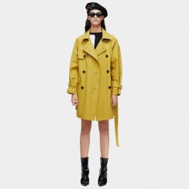 Jazzevar Cover Up Yellow Trench Coat (9027)
