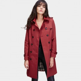 Jazzevar 9 to 5 Wine Trench Coat (860101)