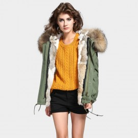 Jazzevar Fur Lined Green Jacket (D4)