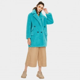 Jazzevar Blue Teddy Coat (K9052)