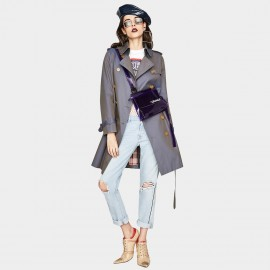 Jazzevar Silk Shine Gun Trench Coat (YA7001)