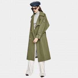 Jazzevar Olive Storm Flap Back Trench Coat (YA7007)