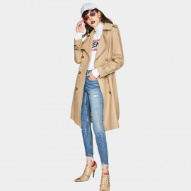Jazzevar City Camel Trench Coat (YA7020)
