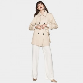 Jazzevar Lady Short Beige Trench Coat (YA7030)