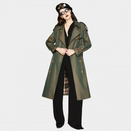Jazzevar Private Detective Green Trench Coat ( YA7002-1)