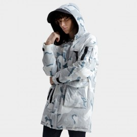 Defend Ciao Hooded Blue Camouflage Down Jakcet (DCY-1981)