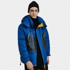 Defend Ciao Contemporary Hooded Blue Down Jacket (DCY-3936)