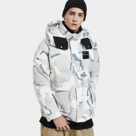 Defend Ciao Commander High Neck Hooded Camouflage Down Jacket (DCY-3940)