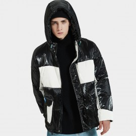 Defend Ciao Double Trouble Hooded Black Down Jacket (DCY-5908)