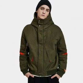 Defend Ciao Ultra Modern Hooded Olive Green Jacket (DJ-3359)