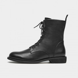 Beau Classic Lace Up Black Boots (02012)