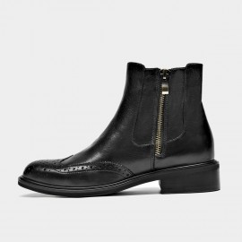 Beau Vintage Ride Side Zip Black Boots (03285)