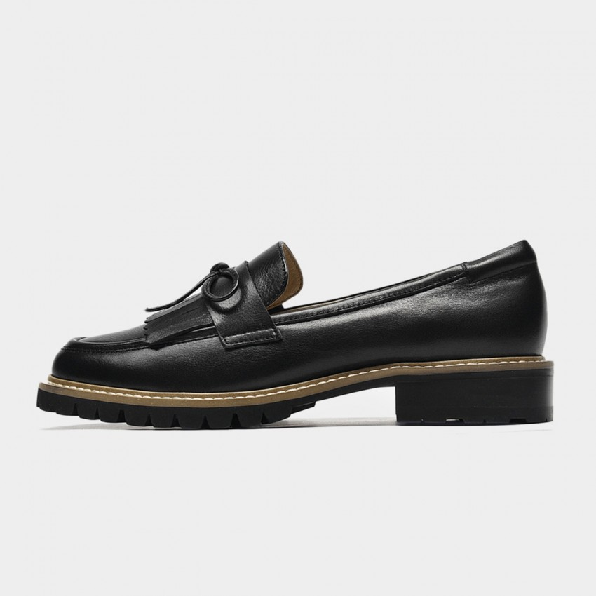 Beau Tassle Me Black Loafers (27162)