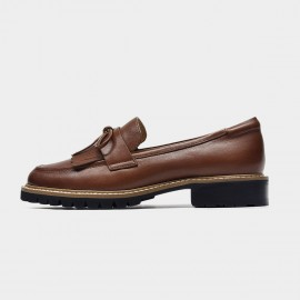 Beau Tassle Me Brown Loafers (27162)