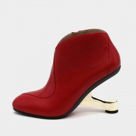 Jady Rose Full Coverage Steampunk Red Boots (19DR10649)